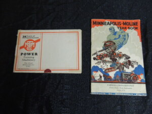The Minneapolis Threshing Machine Co, Foldout Mailer & 1931 Minneapolis - Moline Yearbook (2 Items)