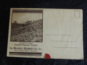 Massey Harris General Purpose Tractor Foldout Poster Mailer