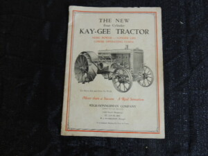 Keck - Gonnerman New Four Cylinder Kay - Gee Tractor Catalog