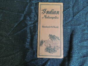 20's Indian Motorcycle Foldout Pocket Catalog/Brochure