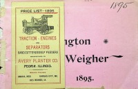Avery Planter Co., Pocket Engine Price List, 1895/The Washington Weigher, Thresher, 1895