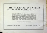 Aultman & Taylor Co., Machinery Catalog, 1913