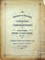 Nathan Manufacturing Co., Catalog & Price List of Ejectors, Oilers, Lubricators