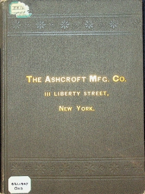 The Ashcroft Manufacturing Co., Catalog of Pressure And Vacuum Gauges