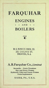 Farquhar Engines and Boilers Tri Fold Brochure
