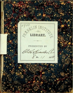 GEO. F. Blake Manufacturing Co. Franklin Institute Library, Signed by Blake 1884