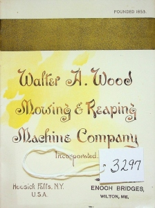 Walter A. Wood. Mowing & Reaping 1895