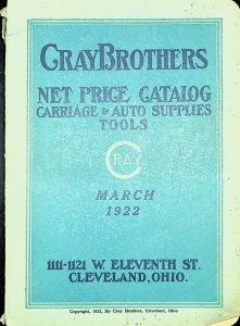 CrayBrothers Net Price Catalog, Carriage & Auto Supplies tools, March 1922