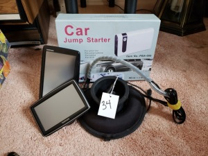 (2) Tom Tom GPS Units And Portable Car Jump Starter