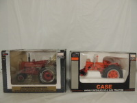 1/16th Spec Cast Case/Farmall (2)-narrow front gas tractors w/fenders and rear wheel weights