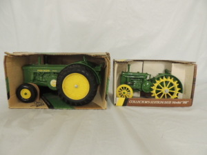 1/16th Ertl John Deere (2)-Collector Edition wide front tractors w/fenders