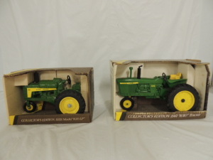 1/16th Ertl John Deere (2)-Collector Edition tractors w/fenders