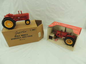 1/16th Spec Cast/Scale Models Massey-Harris (2)-Special Edition narrow front tractors on rubber w/fenders