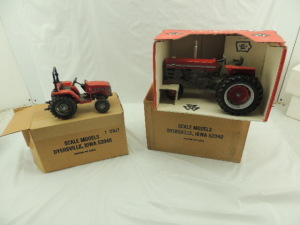 1/16th Scale Models Massey Ferguson (2)-tractors w/3-pt. and fenders