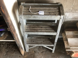 Small aluminum step ladder