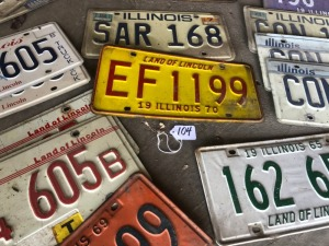 Assorted Illinois license plates