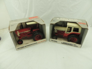 "1/16th Ertl International (2)-Special Edition ""66 Series"" wide front tractors"