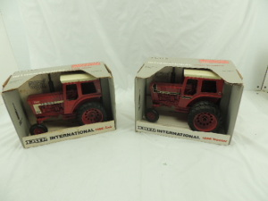 "1/16th Ertl International (2)-Special Edition ""66 Series"" wide front tractors w/cab"