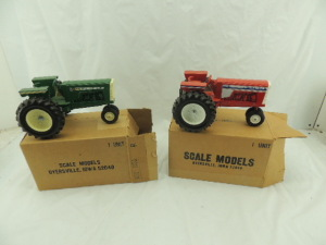 1/16th Scale Models White-Oliver/Oliver (2)-1855 narrow front tractors w/fenders