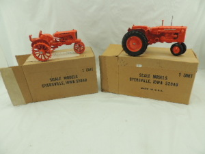 1/16th Scale Models Allis-Chalmers (2)-narrow front tractors w/fenders