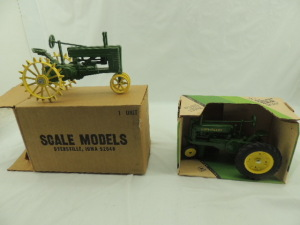 1/16th Ertl/Scale Models John Deere (2)-narrow front tractors