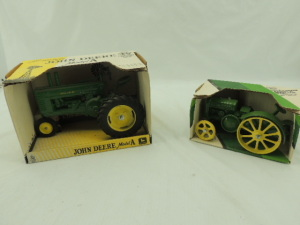1/16th Ertl/Scale Models John Deere (2)-tractors
