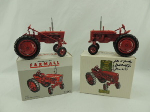 1/16th Ertl Farmall/International (2)-Special Edition wide front tractors w/fenders