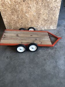 Allis-Chalmers Custom Built Flatbed Pedal Tractor Trailor
