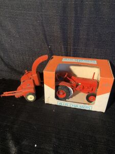 (2) Scale Models Allis-Chalmers U and Silage Chopper