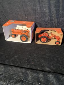 (2) Allis-Chalmers 1/16 Scale Toy Tractor Lot