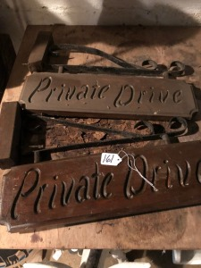 Private Drive signs