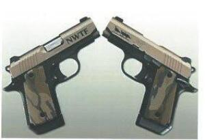 Kimber Micro 9mm/3 Tan/Black Engraved MO Grips