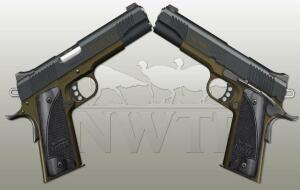 Kimber 1911 45/5 Black and Olive Logo Grips