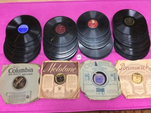 Collection of vintage 78 rpm records