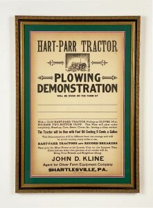 Hart-Parr 12-24 Tractor Demonstration Poster
