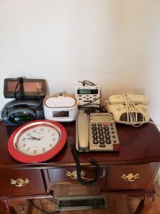 PHONE AND ALARM CLOCK LOT