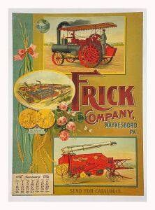 Frick Company Steam Engines & Threshers 1906 Calendar Lithograph