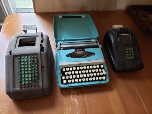 Typewriter And Register Lot