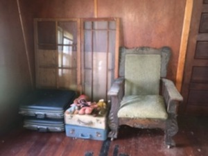 Chair, Windows, And Suitcase Lot
