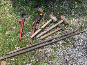 Pipe Wrench Sledge Hammer Lot