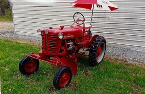 1955 Farmall Cub with Mounted Blade