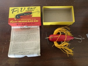 P&V Bait Company Red Wing Black Bird
