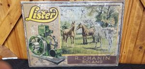Lister Engines Tin Litho Sign