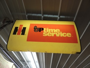 IH Up Time Service light up double sided hanging display
