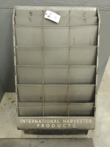 International Harvester Products metal sales brochure rack