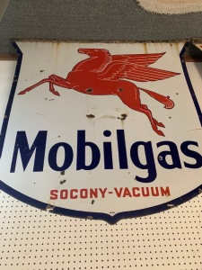 Mobilgas porcelian sign