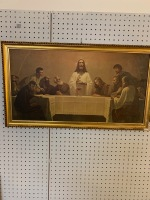 Framed print of the last supper