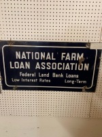 Double sided porcelian National Farm Loan Association Sign