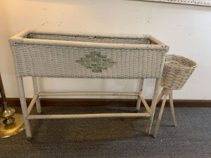 Wicker Planter Boxes