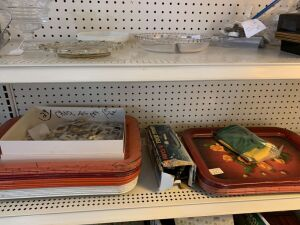 Trays, Olympic pins and air pump